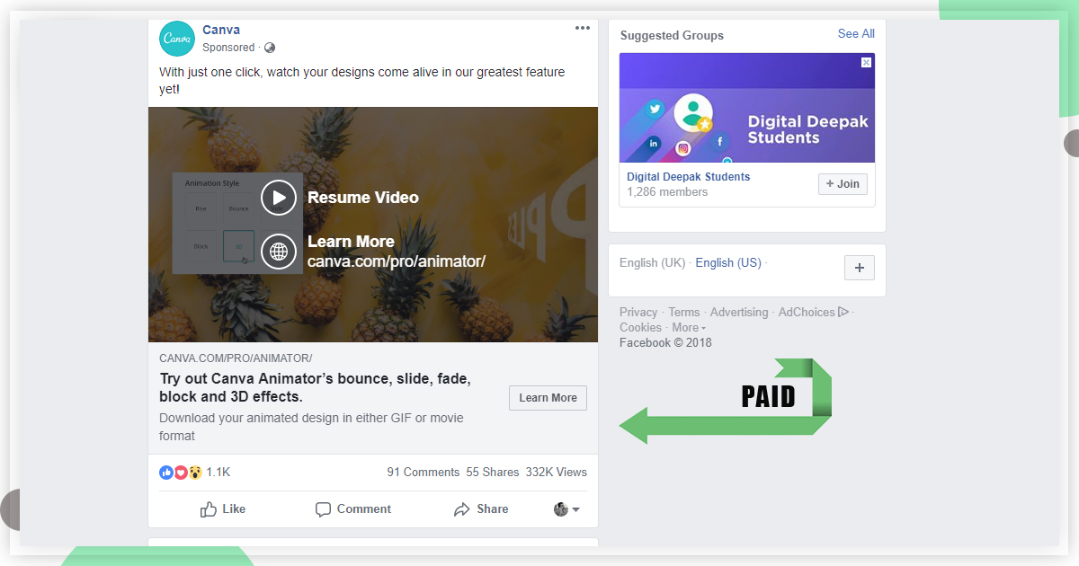 PaidSocial Media Advertising