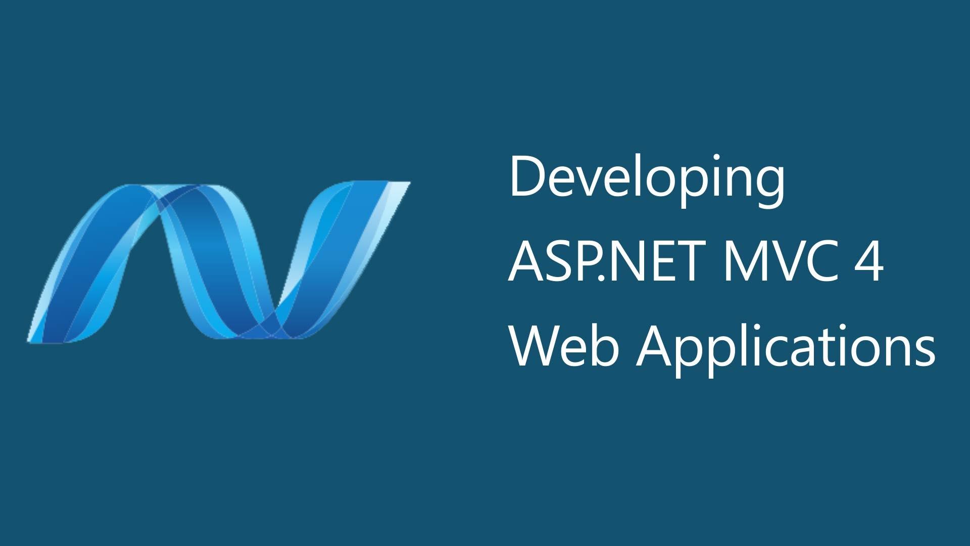MVC 4 web applications