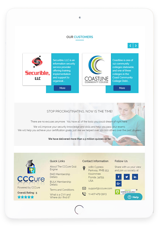 CCCure Quiz Engine